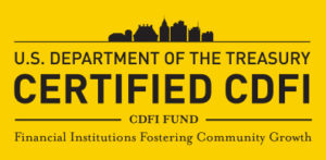 Department of the treasury certified CDFI logo